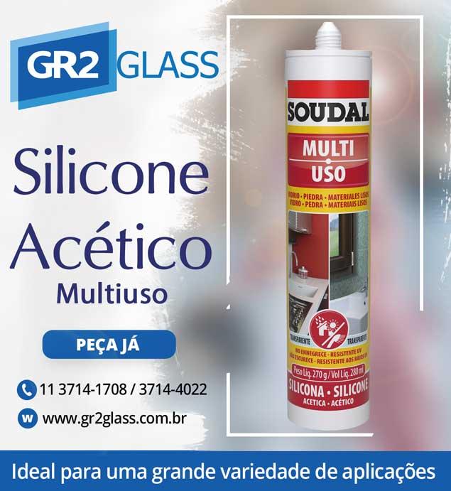 Silicone Acético Multiuso Transparente para Vidro e Alumínio