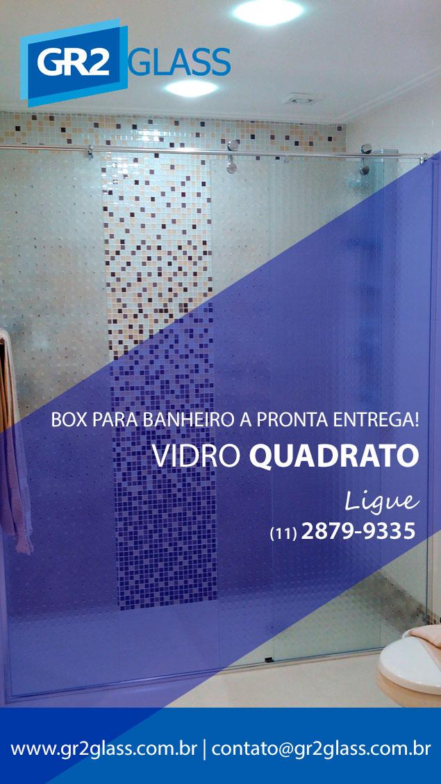 Box de Vidro Quadrato GR2 Glass