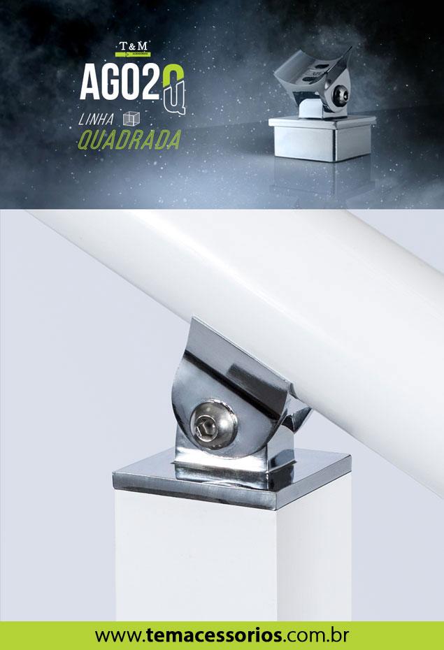 Conexão Angular Quadrada Alumínio AG02Q TeM