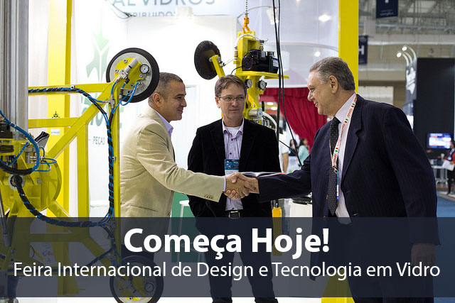Feira Internacional de Design e Tecnologia em Vidro Começa Hoje!