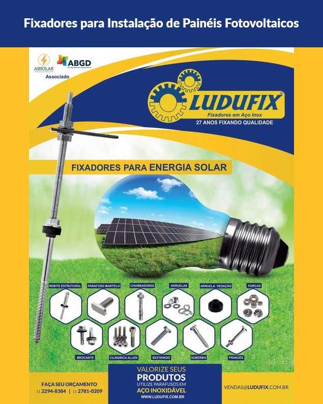 Fixadores Instalação Painéis Fotovoltaicos