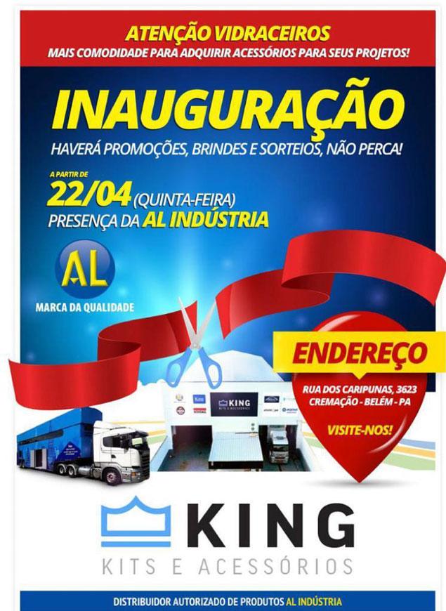 inauguração distribuidora king kit