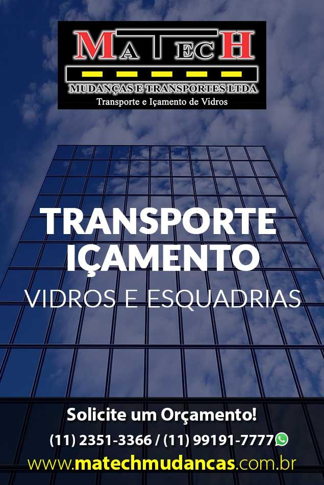Transporte Içamento Vidros Esquadrias