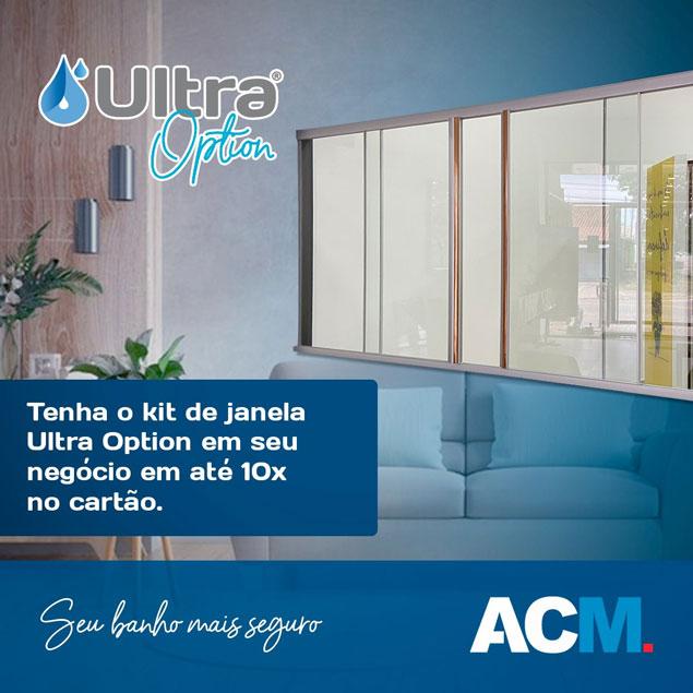 Kit Janela Ultra Option em 10 vezes no cartão