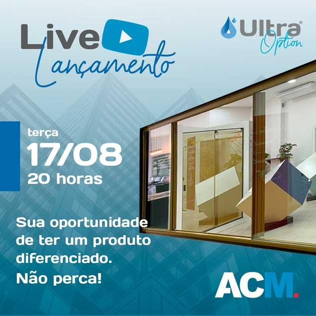 Live lançamento das janelas Ultra Option 06mm